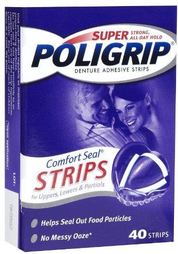 Super PoliGrip Comfort Seal Strips Denture Adhesive - 40 Strips GLAXOSMITHKLINE CONSUMER 310158080251