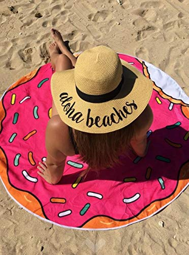 c82dda6bde1 H-2017-AB Funky Junque Embroidered Sun Hat - Aloha Beaches at Amazon  Women's Clothing store