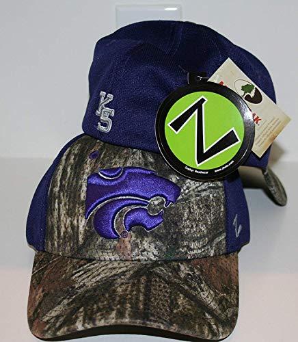 ZHATS Kansas State University KSU Wildcats Trek Camo Vapor Tech Adult Mens Fitted Hat/Cap Size Medium Large