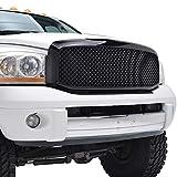 dodge ram 1500 black mesh grill - E-Autogrilles 06-08 Dodge Ram1500/06-09 Dodge Ram 2500/3500 Black Replacement Mesh Grille W/Shell (41-0112B)