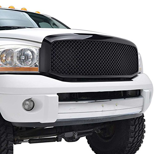 E-Autogrilles 06-08 Dodge Ram1500/06-09 Dodge Ram 2500/3500 Black Replacement Mesh Grille W/Shell (2500 Grille)