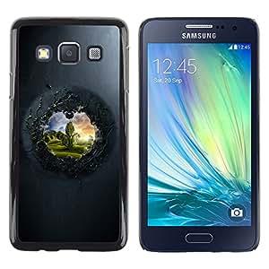 View To The Other Side - Metal de aluminio y de plástico duro Caja del teléfono - Negro - Samsung Galaxy A3 / SM-A300