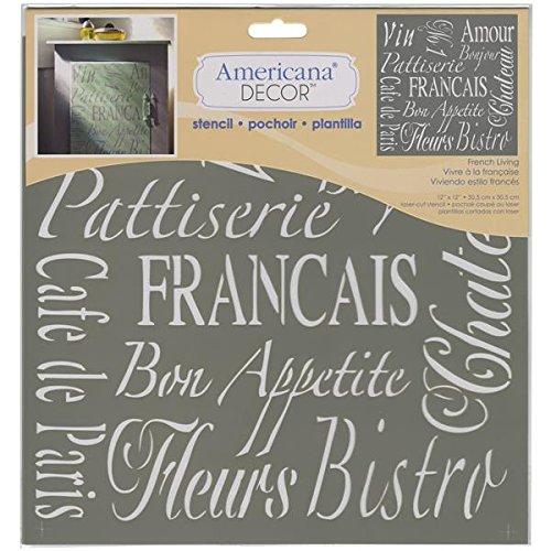 Americana Decor Stencil French Living