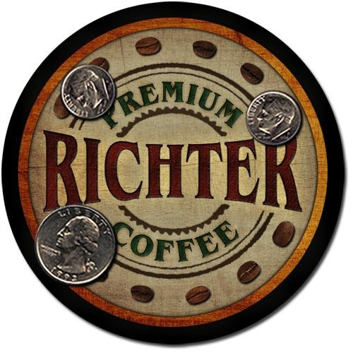Richter Family Name Coffee Drink Coasters - 4 Pack
