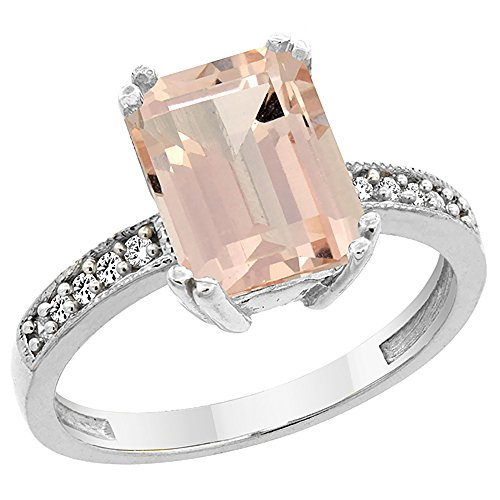 14k Octagon Gemstone Ring - 9