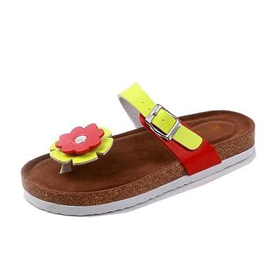 LaoZan Damen Clip Toe Sandalen Strand Schuhe Pantoletten mit Korkfußbett Flip Flop Zehentrenner Offene Sandalen 39 3 NN6YT0bCYH