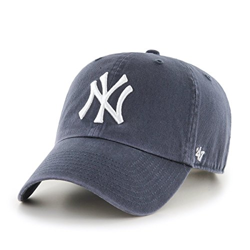 (47 Brand New York Yankees Clean Up MLB Dad Hat Cap Blue, One Size)