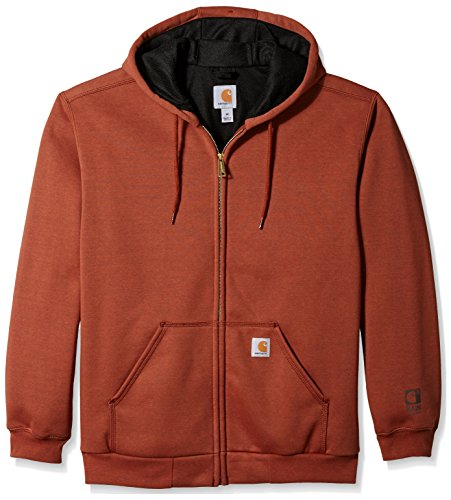 Thermal Sweatshirt Carhartt (Carhartt Men's Rain Defender Rutland Hooded Zip Front Sweatshirt, Sequoia Heather, Large)