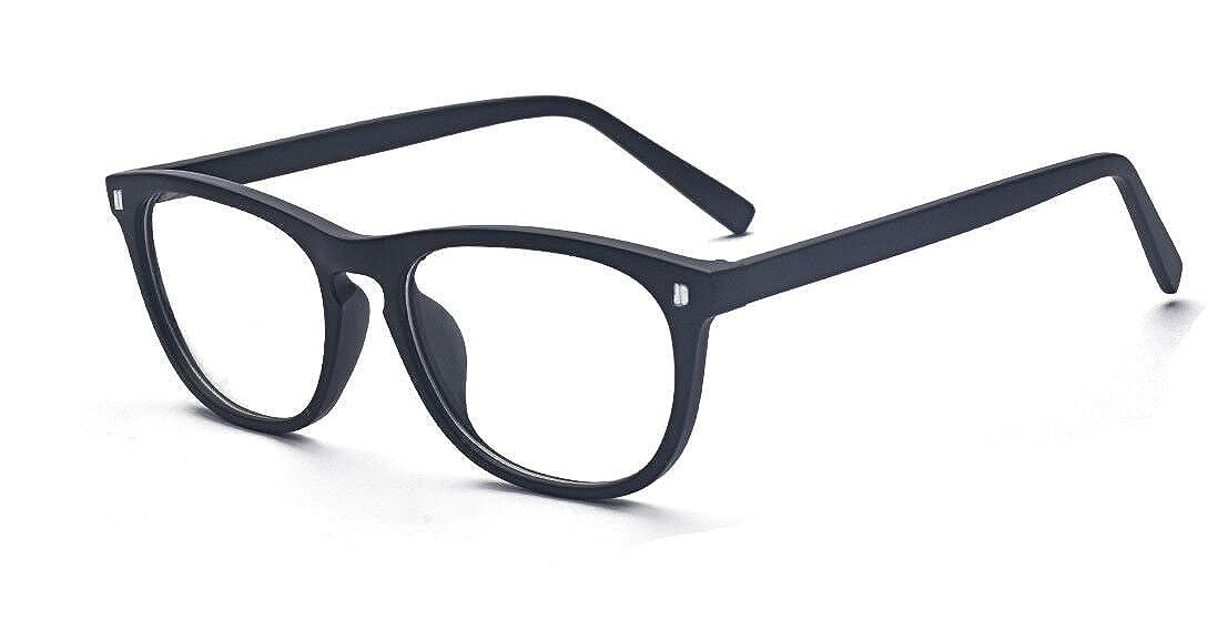 48ffde9a318b Amazon.com: Outray Vintage Fashion Non-prescription Glasses Frame Clear  Lens Eyeglasses: Clothing