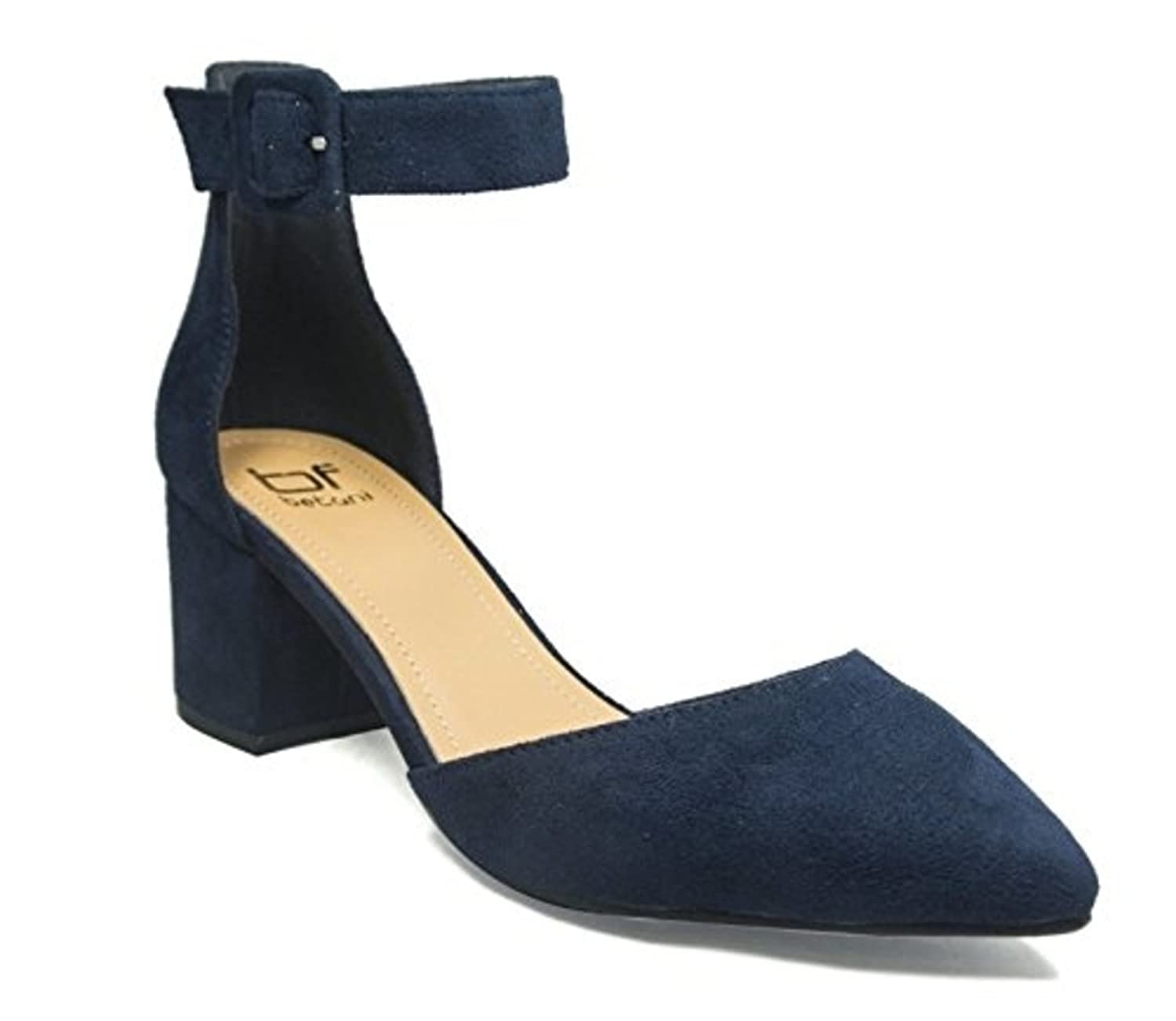 67552574192 Betani Womens Irene-5 Close Toe Block Heel Navy free shipping ...