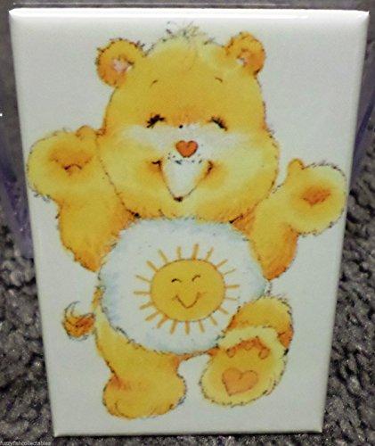 Funshine Bear 2 x 3 Refrigerator Locker MAGNET Care Bears 80's Vintage