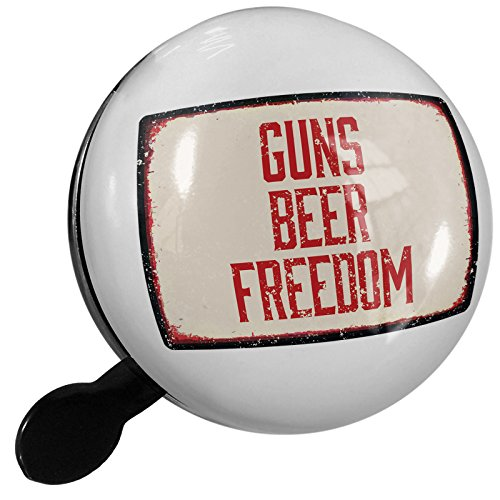 Small Bike Bell Guns Beer Freedom Fourth of July Aging Vintage Red - NEONBLOND by NEONBLOND