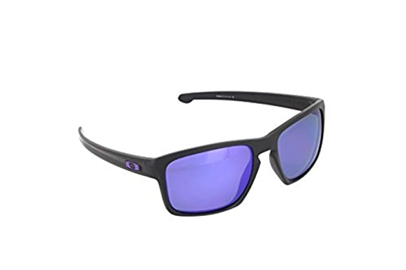 f23ab176165b Oakley Sliver Sunglasses Matte Black Violet Iridium Polarized   Cleaning Kit