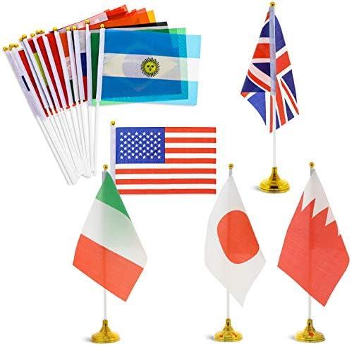 Juvale - Juego de 24 banderas de países de todo el mundo con ...