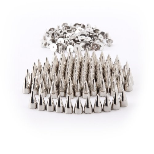 Surepromise Screw Back Bullet Stud Spike Belt Bag Leather Craft Clothes Rivet, Silver ()