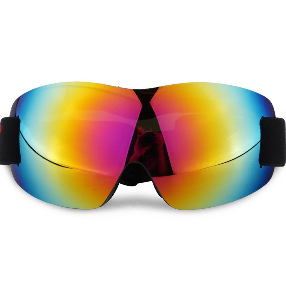 Skibrille Frameless Abnehmbare Wide Spherical Goggle Objektiv Skate Snowboard Snowmobile Goggle mit verspiegelten Objektiv für Männer Frauen Anti-Fog UV-Schutz (Color : Red) lUOH1TP
