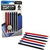 3dsxl - Stylus - Stylus Pen Set - 6 Pk (2 Red 2 Blue 2 Black) (kmd)