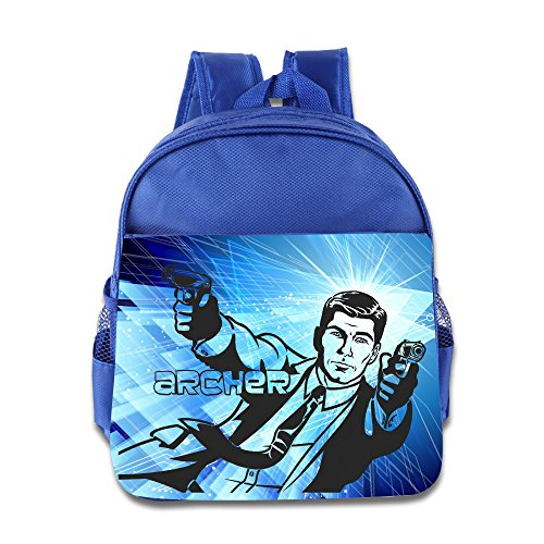 Archer Danger Zone Children School Bags RoyalBlue