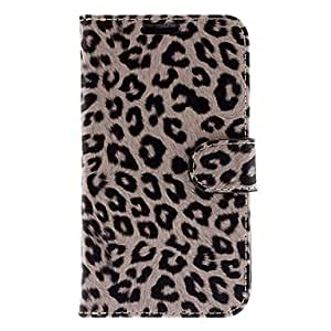JJE Fashion Leopard Print PU Leather Full Body Case for Samsung Galaxy Grand Duos I9082(Assorted Colors) , Khaki