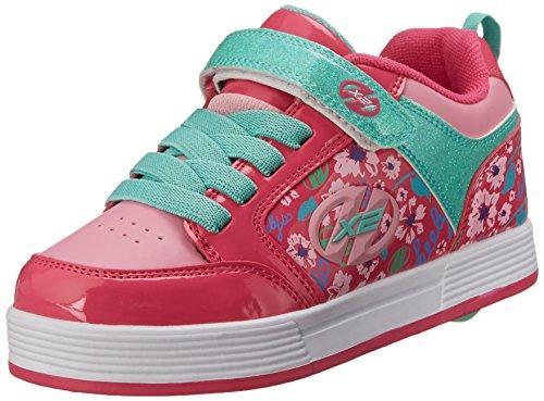 Heelys Girls' X2 Thunder Sneakers, Purple (Berry/Light Pink/Mint), 3 UK