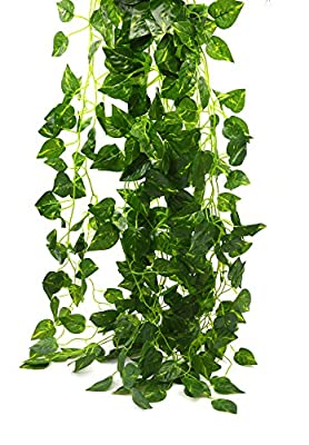 Bird Fiy 78 Ft-12 Artificial Fake Hanging Vine Plant Leaves Garland Home Garden Wall Decoration
