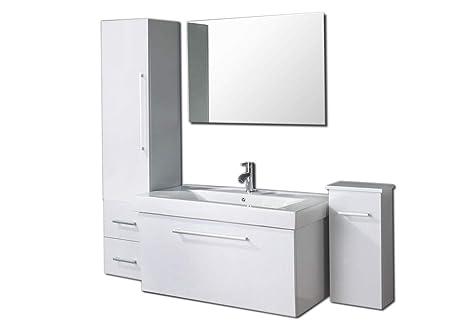 Mobile bagno sospeso cm moderno rovere chiaro con colonna