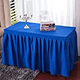 Amyove Rectangle Tablecloth Thicken Plain Table Skirts Household Hotel Restaurant Polyester Table Runner Navy blue; 240 60 75cm