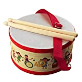 Ireav Ballad Drum Wood Early Educational Musical Instrument for Children Baby Toys - Beat Instrument Hand Drum Toys