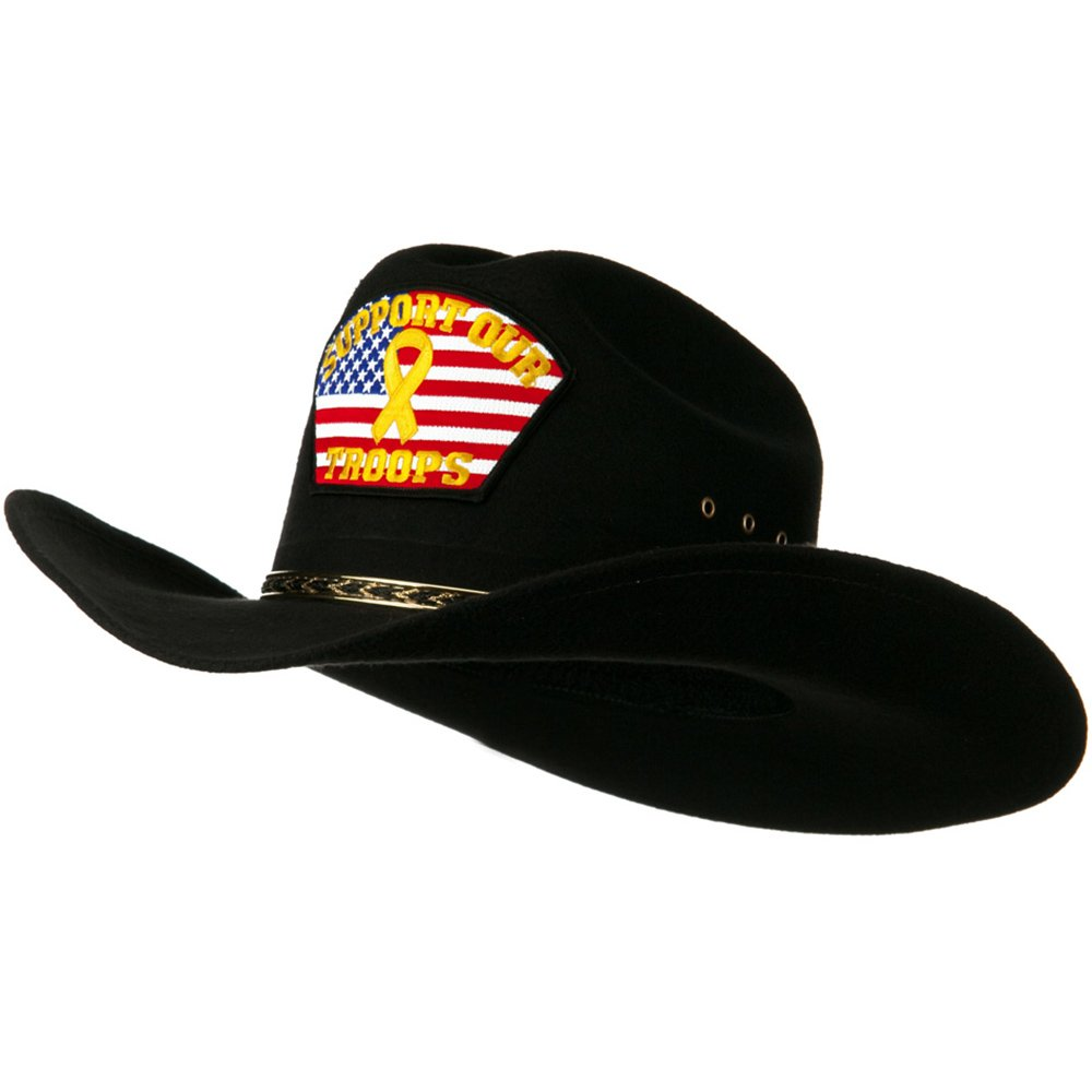 Amazon.com  Eagle Crest Retired Military Cowboy Outback Hat - Support Troop  OSFM  Clothing a12f40191bf