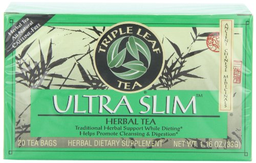 Triple Leaf Tea, sachets de thé, Ultra Slim, sachets de thé 20-Count (pack de 6)