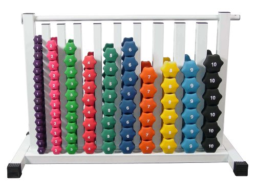 Neoprene Dumbbell Set- 88 Weights w/ Free Safety Rack by Ader Sporting Goods