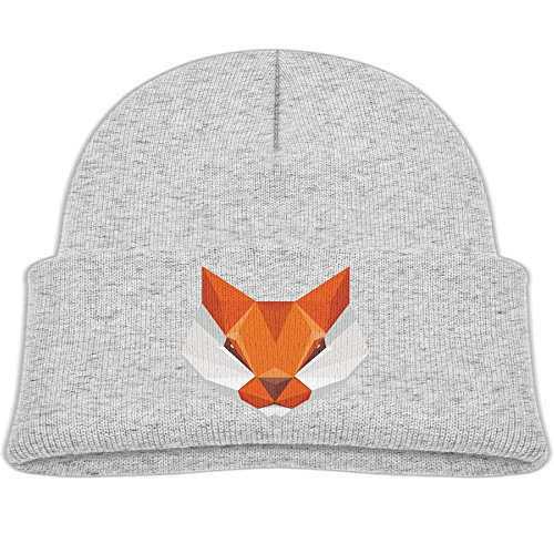 Eugene Carpenter Toddler Square Fox Baby Boy's Hat Kids Cool Knit Beanie Hats Toddlers Caps Ash