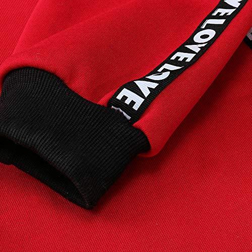 Amuster Pull Grande Sweats Longues Femme Hiver Swag Manches À Sweat Veste Capuche Robe Manteau Sport Tops Hoodie Rouge Décontractée Taille Sweat Sweatshirt Fille Hooded Coton shirts rrwxz7p