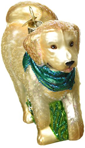 Old World Christmas Ornaments: Doodle Dog Glass Blown Ornaments for Christmas Tree