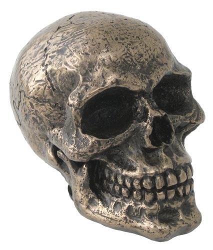 Knob Shift Skull Gear (3 Inch Cold Cast Bronze Finish Standard Car Skull Shift Knob)