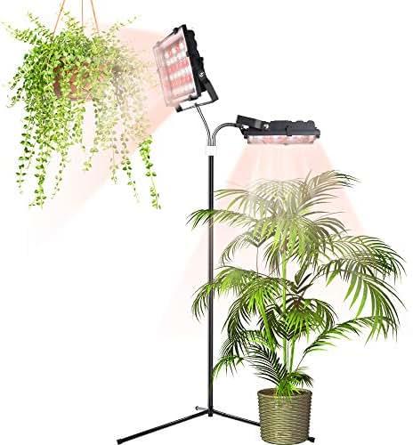 ACKE Floor Lamp for Indoor Plants,2 Light Floor Plant Light 70W for Indoor Gardening,Standing Grow Light for Houseplants