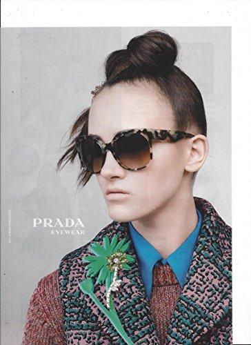 **PRINT AD**For 2015 Prada Brown Frame Sunglasses **PRINT - Prada Sunglasses Ad