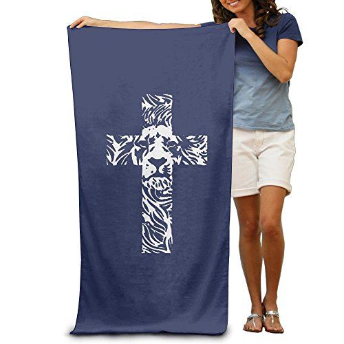 Wxf Lion Cross Religious Christian Soft Absorbent Beach Towel Pool Towel 30x50 by Wxf