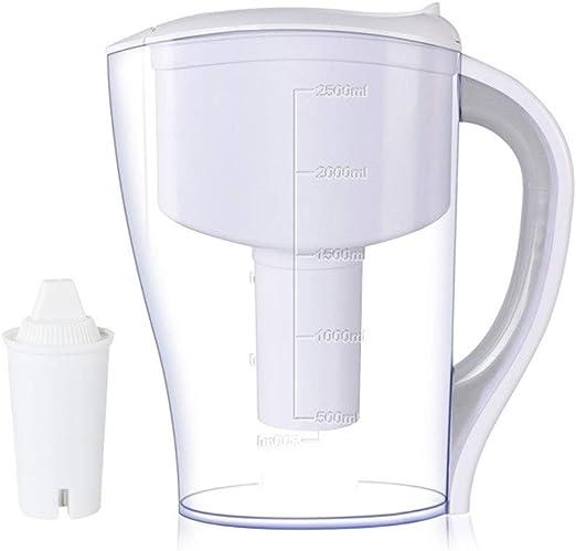 Jarra De Filtro De Agua Grande De 2.5L, 10 Tazas Filtración Que ...