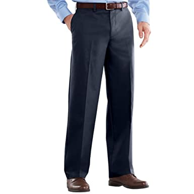 6fb2b1925d0 Croft & Barrow Men's Easy-Care Classic-Fit Flat-Front Pants at Amazon Men's  Clothing store: