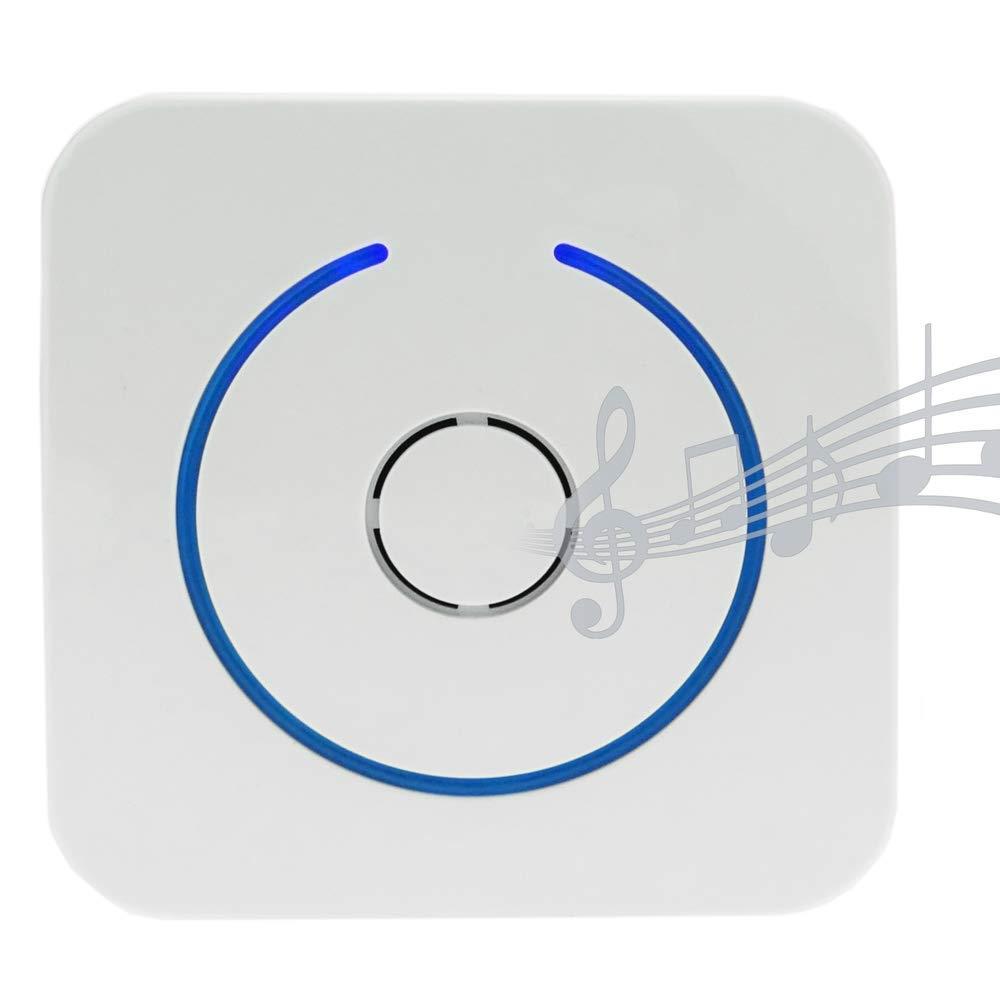 Detector de presencia inal/ámbrico ac/ústico y luminoso con alcance de 60m y 8 tonos BeMatik