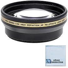 Pro series 52mm 2.2x High Definition AF Telephoto Lens + Microfiber Cloth For Nikon D3000 D3100 D3200 D3300 D5000 D5100 D5200 D5500 D7000 D7100 D7200 D600 D610 D700 D800 D90 DSLR and More Models