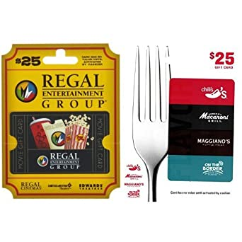 movie a meal brinker regal entertainment 2 25 gift cards