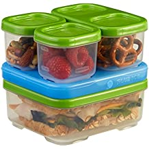 Rubbermaid LunchBox Sandwich Kit, Food Storage Container, Green (1806231)