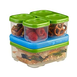 Rubbermaid LunchBlox Sandwich Kit, Food Storage Container, Green