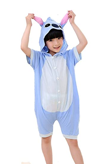 5606dd5e80 Amazon.com  Tonwhar Unisex-Children 100% Cotton Summer Animal Pajamas  Onesies Cosplay Homewear  Clothing