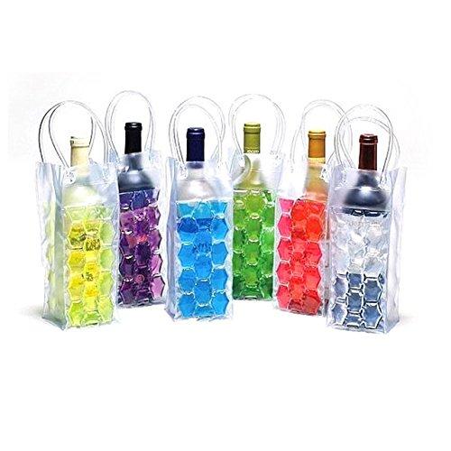 Generic PVC Bier Kühltasche Rapid Ice Weinkühler Outdoor Ice Jelly Bag Picknick coolsacks Weinkühler Kühler Frozen Tasche Flaschenkühler (lila)