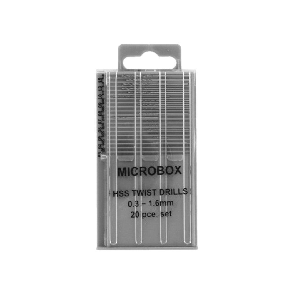 Rotacraft Microbox 0.3-1.6 mm Drill, Set of 20 Shesto Ltd RDR4001