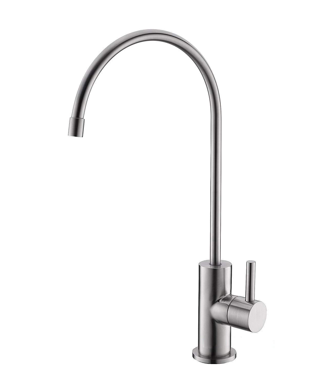Havin SUS304acier inoxydable potable purificateur d'eau de robinet, robinet, robinet d'évier Osmose Inverse, brossé Nickel robinet d'évier Osmose Inverse brossé Nickel