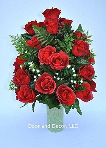 Artificial Flowers For Grave Amazon Com